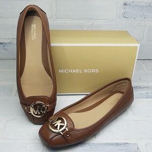 NIB MICHAEL KORS Fulton Moc Leather Flats Size: 8